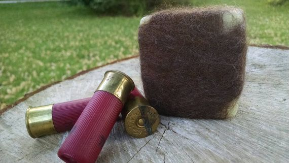 Dirt scented hunting soap, cover scent for hunting. All natural felted soap Etsy listing at https://www.etsy.com/listing/231586427/dirt-scented-hunting-soap-felted-4oz