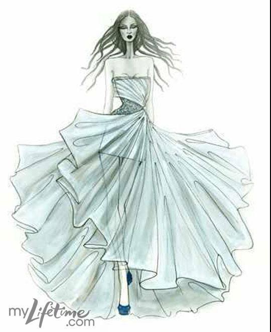 Royal Wedding Dress Sketches by Project Runway Alumni: « Fashion ...