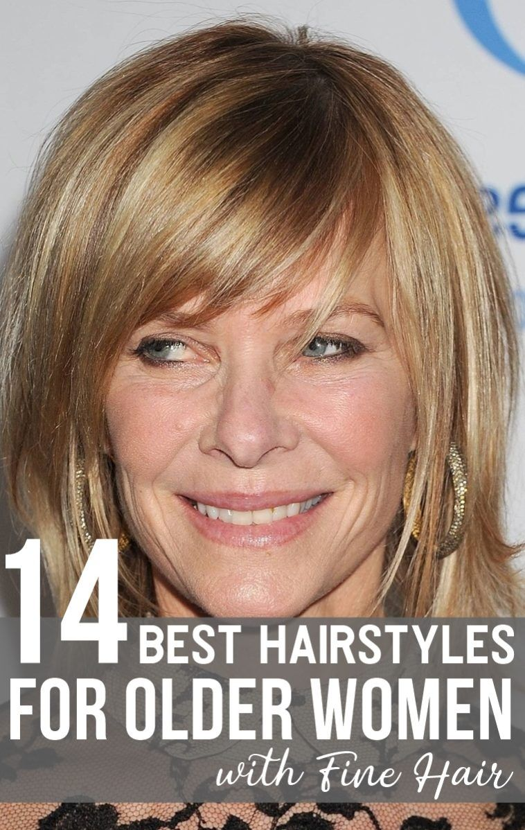 hairstyles for older women with fine hair