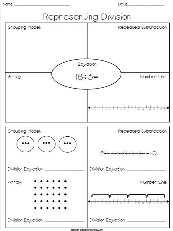 Representing Division Pre School Maths Pinterest Free