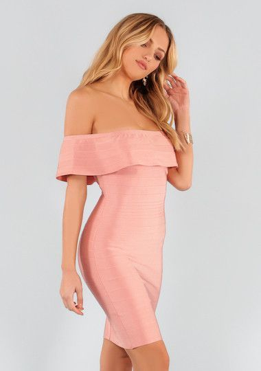 8f18950b Sonnet Off The Shoulder Body Con Bandage Dress | Dresses | Pinterest ...
