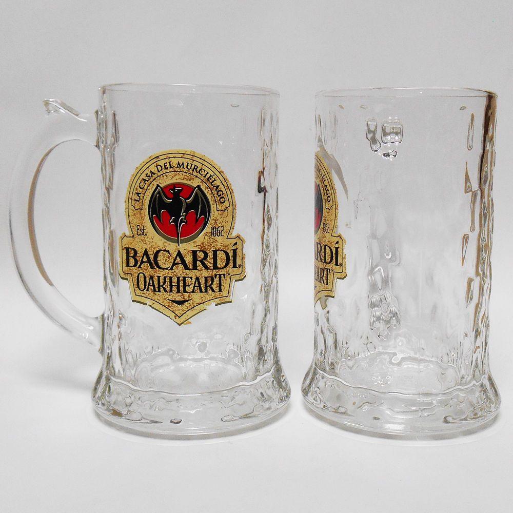 Boccale vetro Rum Ron Bacardi Oakheart 33 cl murcielago bar pub cocktail