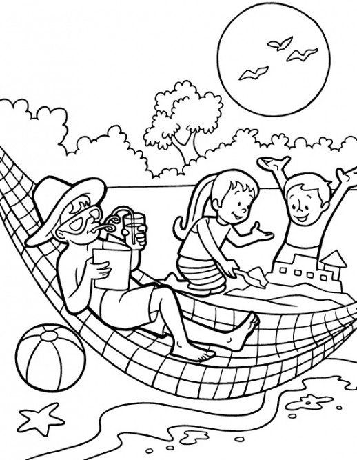 Preschool Coloring Pages Summer Fun