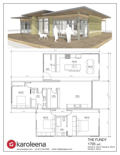 The Fundy By Karoleena 1795 Sqft 3 Bed 2 Bath Able To Service Vancouver Area Bc Luxury House Plans Eco House Plans Modular Homes