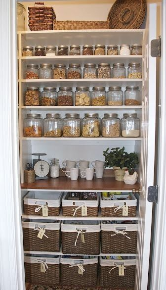 Change pantry - clear jars off countertops