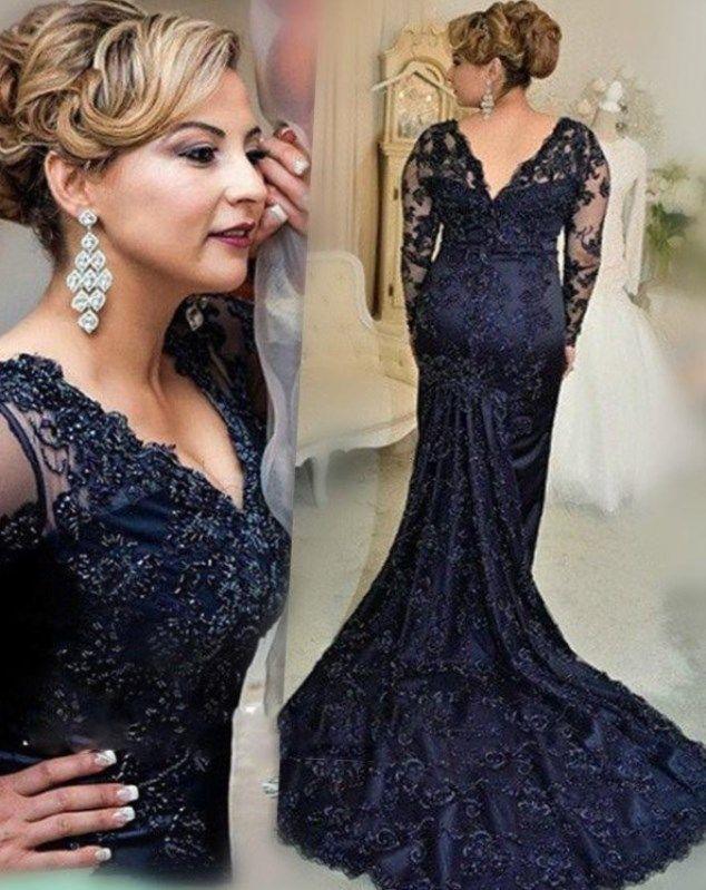 Abendkleid lang blau große größen #trend #damenmode # ...