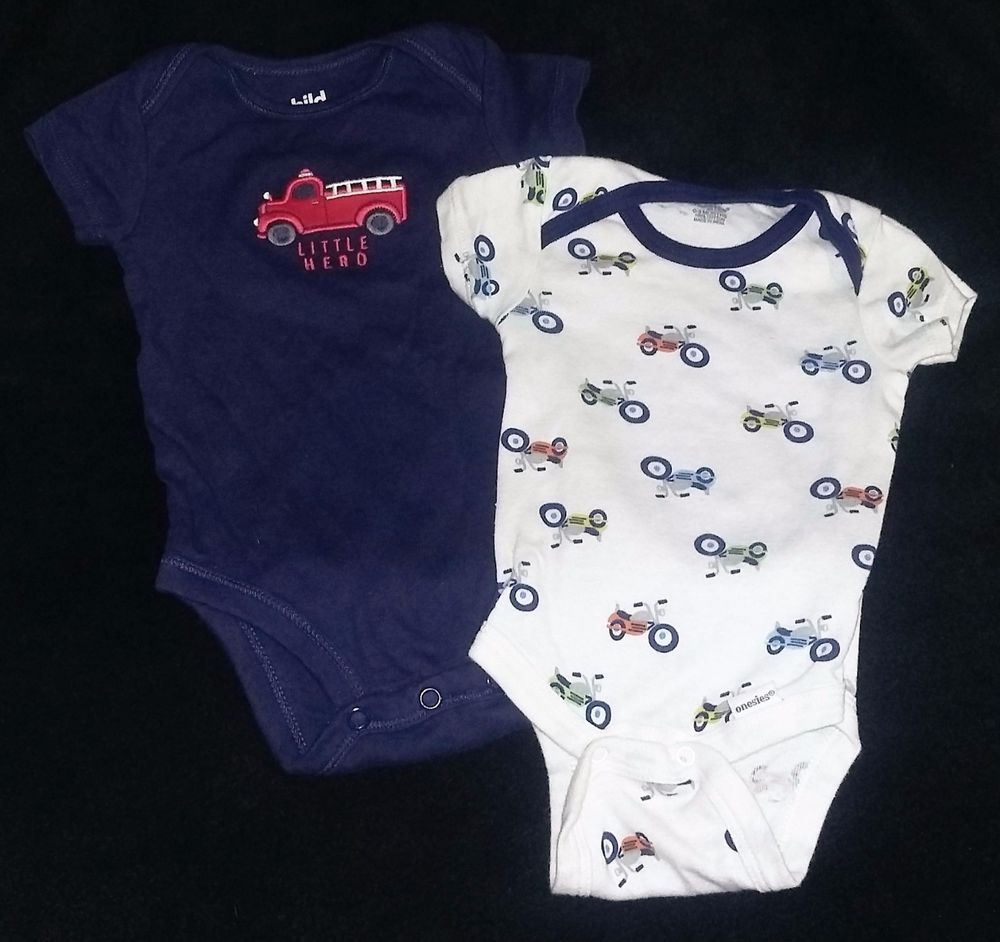 0 3 Months Baby Body Suit Motorcycles White Blue Fire Truck Set Of 2 Bb12 Clothing Shoes Accessories Baby Toddler Cl Baby Month By Month 3 Month Baby Baby Bodysuit