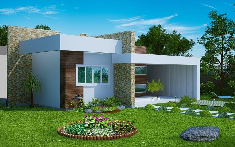 Projeto arquitet nico casa fortaleza c d 102 r 565 for Casa moderna gratis