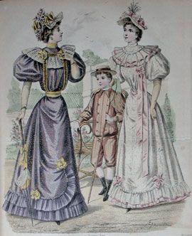 0aa0cc9a643c Abiti Antichi - Storia della Moda 1891-1900