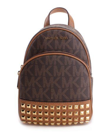 e221aafbf11aeb This Brown & Acorn Studded Abbey Signature Backpack is perfect! #zulilyfinds