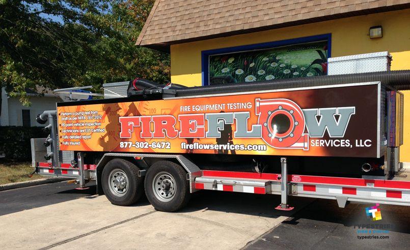 Fireflow Services Llc Full Color 3m Controltac Trailer Wrap With Fireflow Services Llc At Fireflow Services Llc Fire Equipment Business Promotion Wraps
