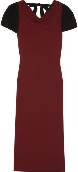 Roland Mouret Red Reed Jersey and Crepe Dress