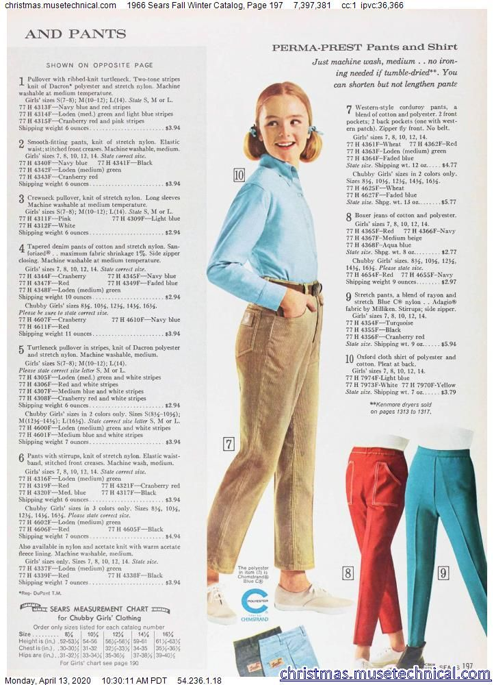 1966 Sears Fall Winter Catalog, Page 197 - Christm