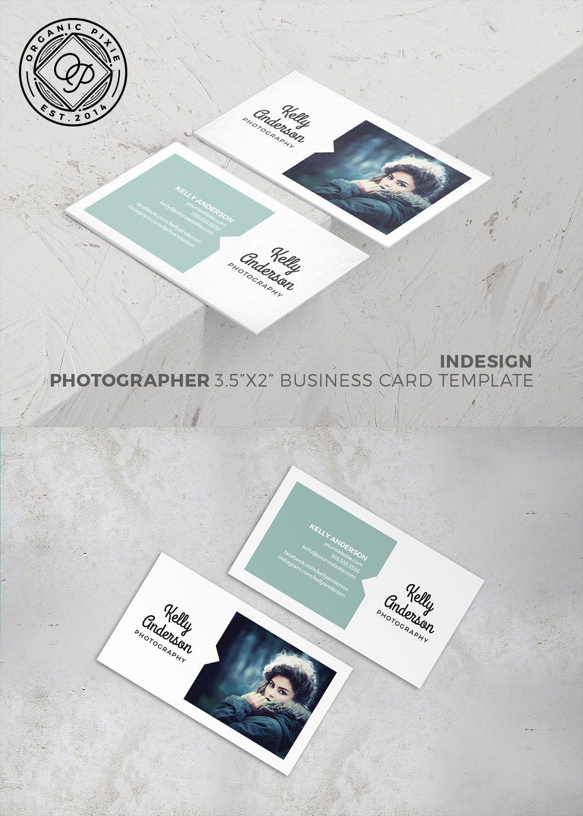 This is an easy to use turn key business card design template in