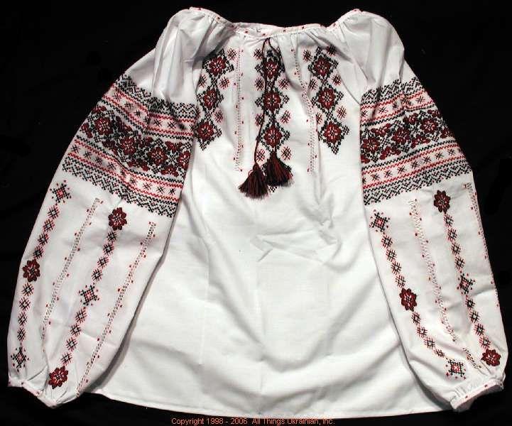 Handmade Ukrainian hand embroidered women's blouse #06-4126 from Western Ukraine, sold on AllThingsUkrainian.com