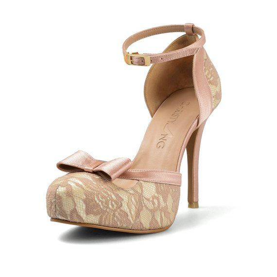 ae6179d9715a Donna Nude Lace Heels