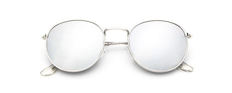 Vintage Brand Design Round Sunglasses Men Alloy Retro Sun Glasses For Men Women Male Sunglass Mirror Eyewear Gafas M096
