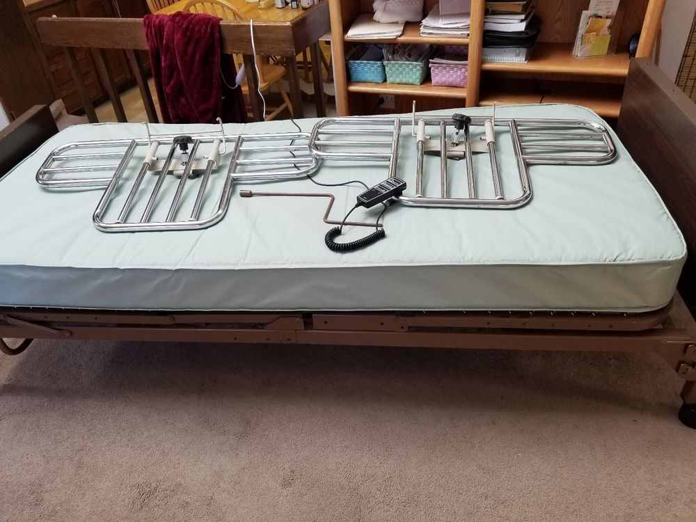 HOSPITAL BED by Invacare SemiElectric Bed + Mattress
