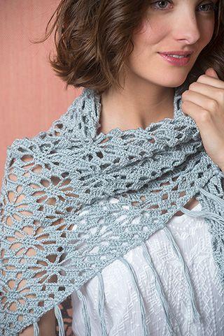 Driehoekige Gehaakte Sjaal Veritas Be Haken Gratis Patroon