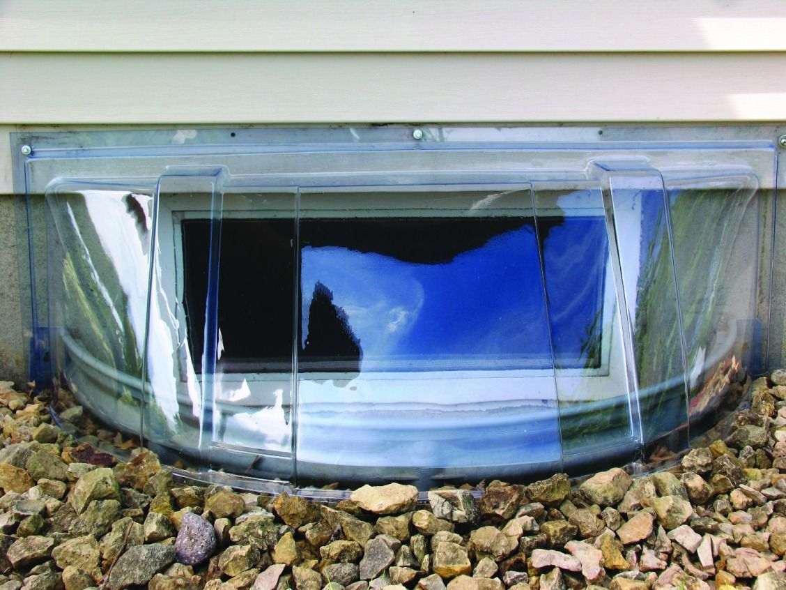 This Round Dome Shaped Window Well Cover From Shape Products Is