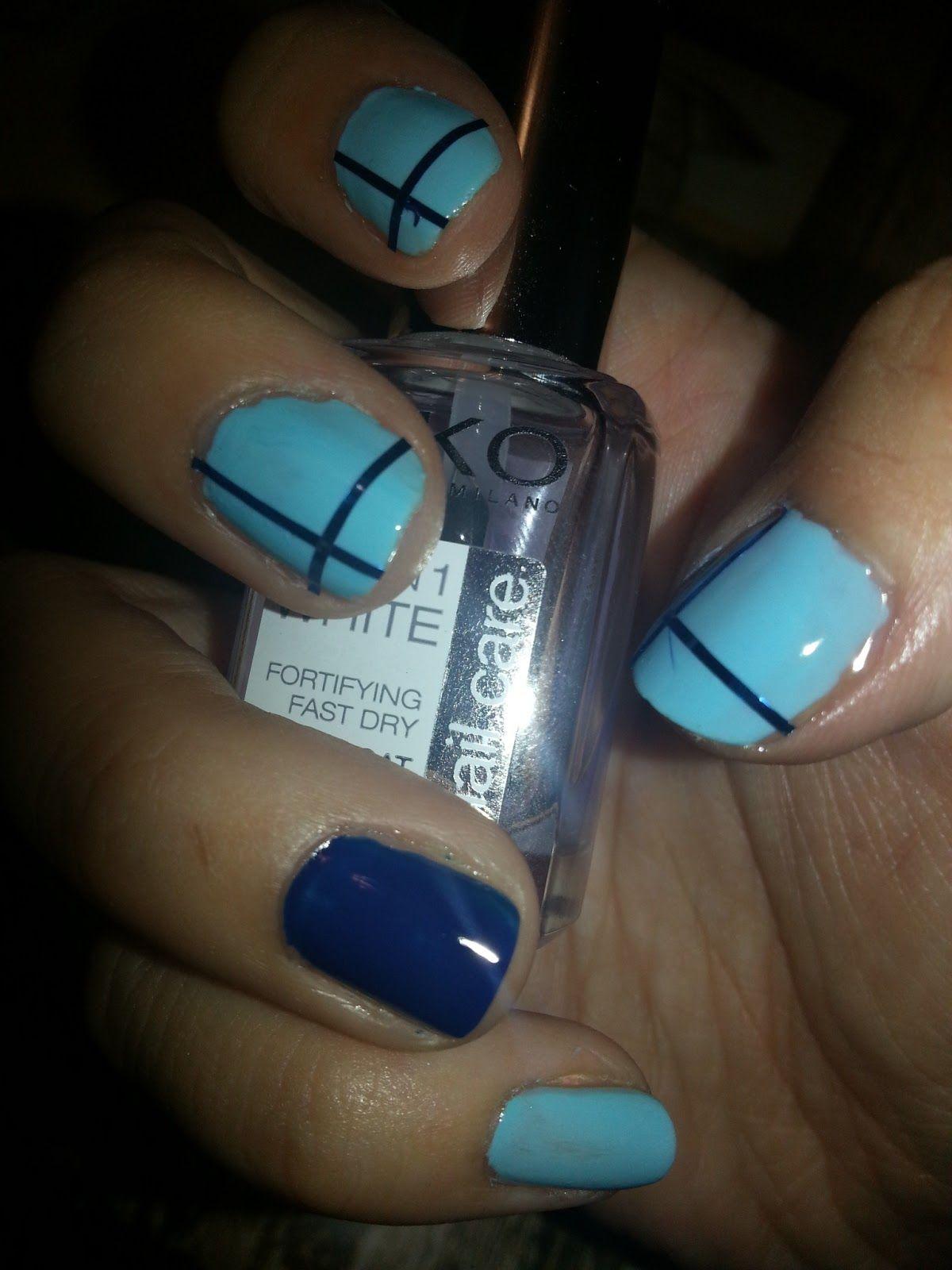 uñas pintadas de color azul electrico - Buscar con Google | uñitas ...