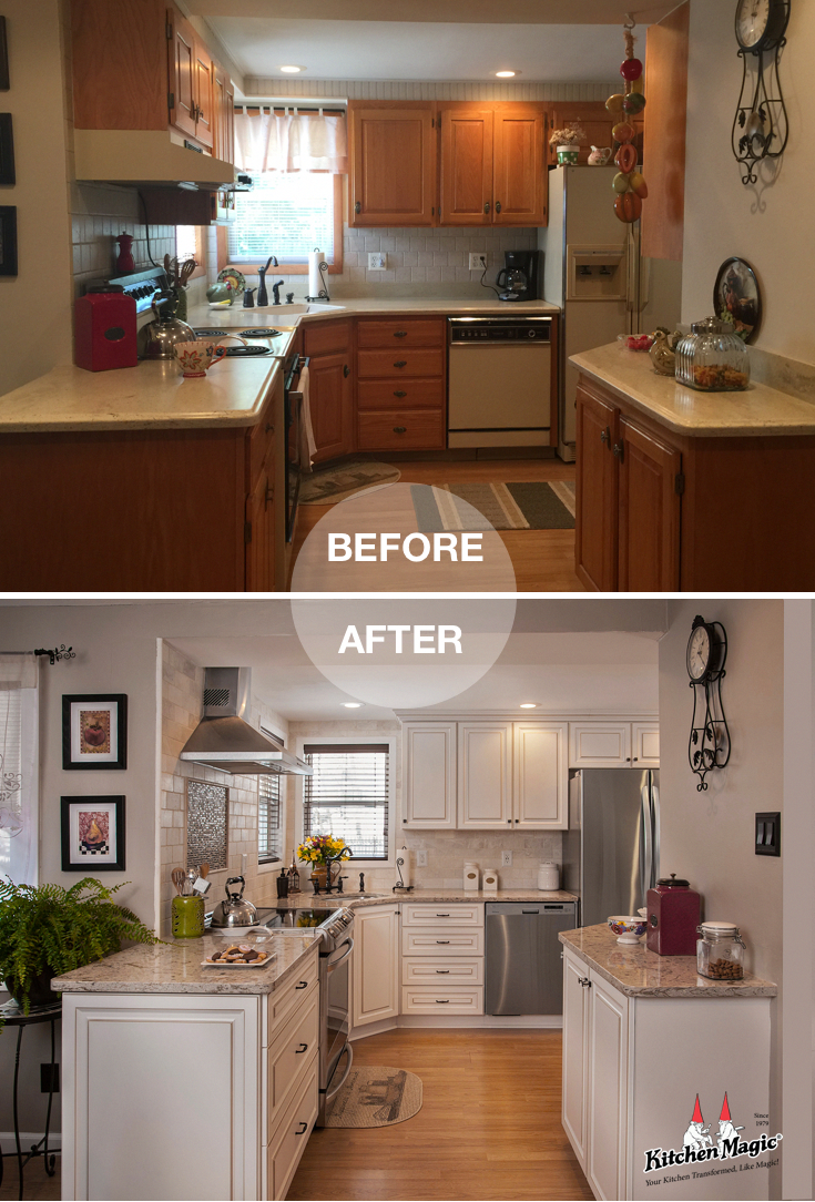Things You Didn't Know You Could Do With Cabinet Refacing - Kitchen cabinet remodel, Kitchen remodel small, Kitchen remodeling projects, Kitchen makeover, Kitchen renovation, Kitchen design - When you hear  refacing , also think about  refunction   Check out 3 new things you didn't know you could do with cabinet refacing!