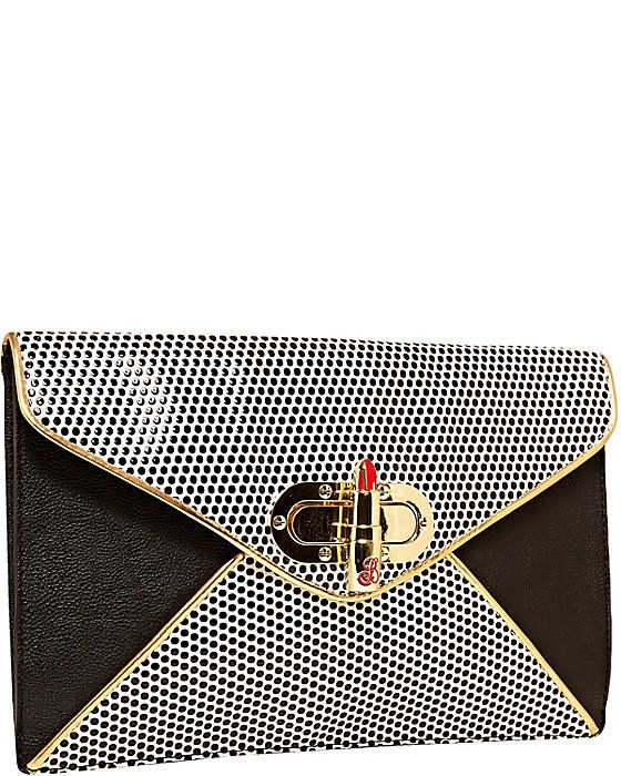 SUPER BETSEY CLUTCH BLACK WHITE accessories handbags clutch fashion