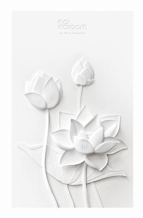 Paper sculpture white thai flowers on behance jenny pinterest paper sculpture white thai flowers on behance mightylinksfo