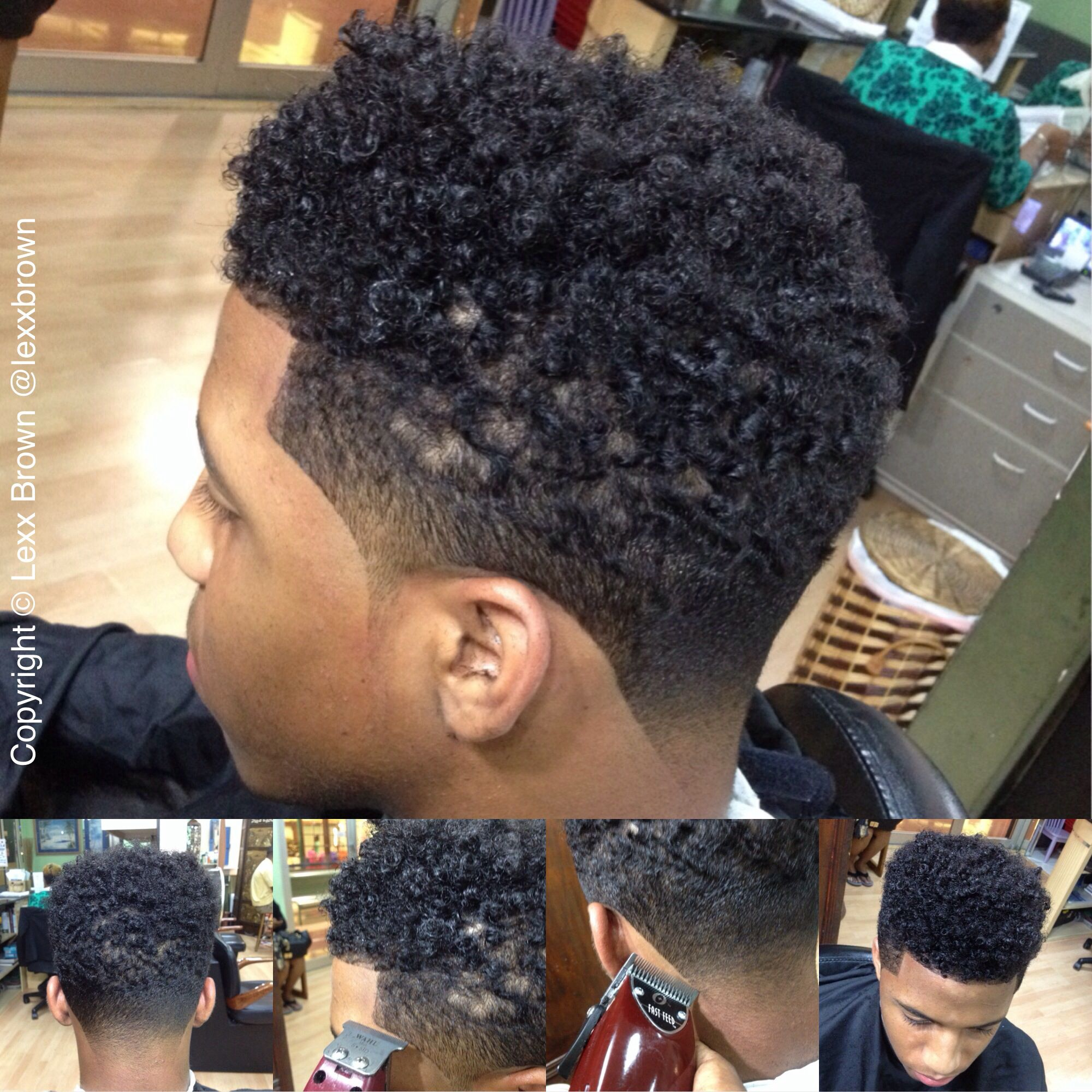 Black Mens Heavy Fade Google Search Mommy And Son Pinterest - Haircut styles for black men with curly hair