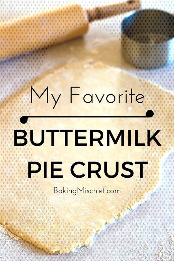 My favorite flaky, delicious buttermilk pie crust. This is seriously the easiest pie dough you will