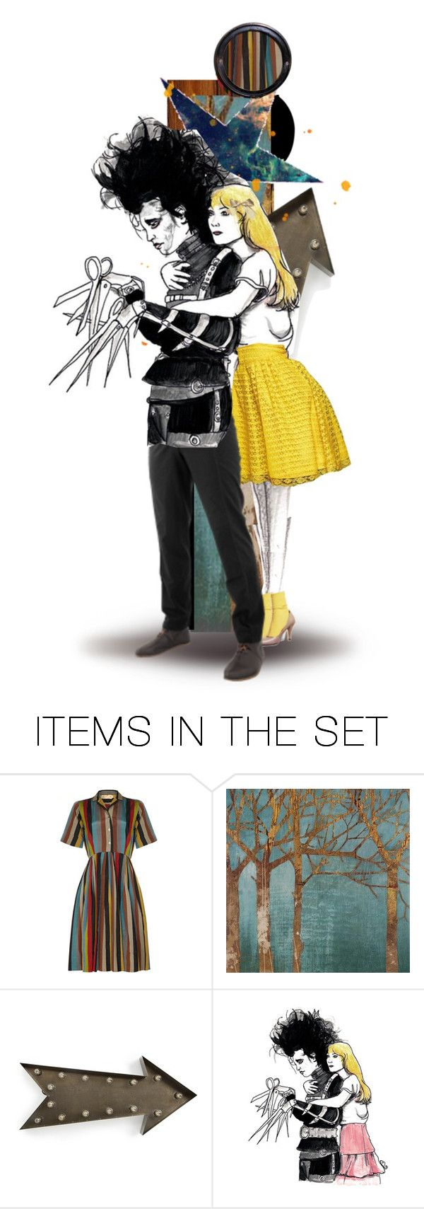 """""""You see, before he came down here, it never snowed. And afterwards, it did. If he weren't up there now... I don't think it would be snowing. Sometimes you can still catch me dancing in it."""" by twins005 ❤ liked on Polyvore featuring art and edwardscissorhands"""