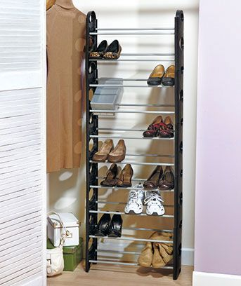 30 Pair Shoe Tower Space Savers Closet Shoe Storage Shoe Rack Space Saver