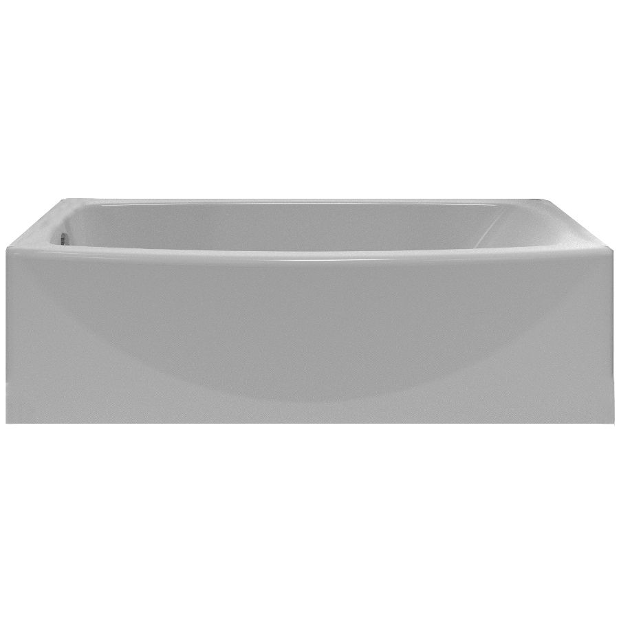 Shop American Standard Saver Arctic White Acrylic Oval In Rectangle ...