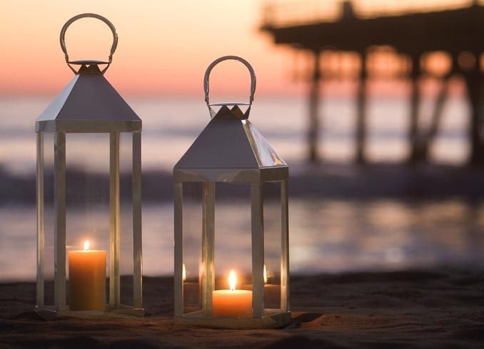 Romantic Lights Beach Style Lanterns Large Lanterns Candle
