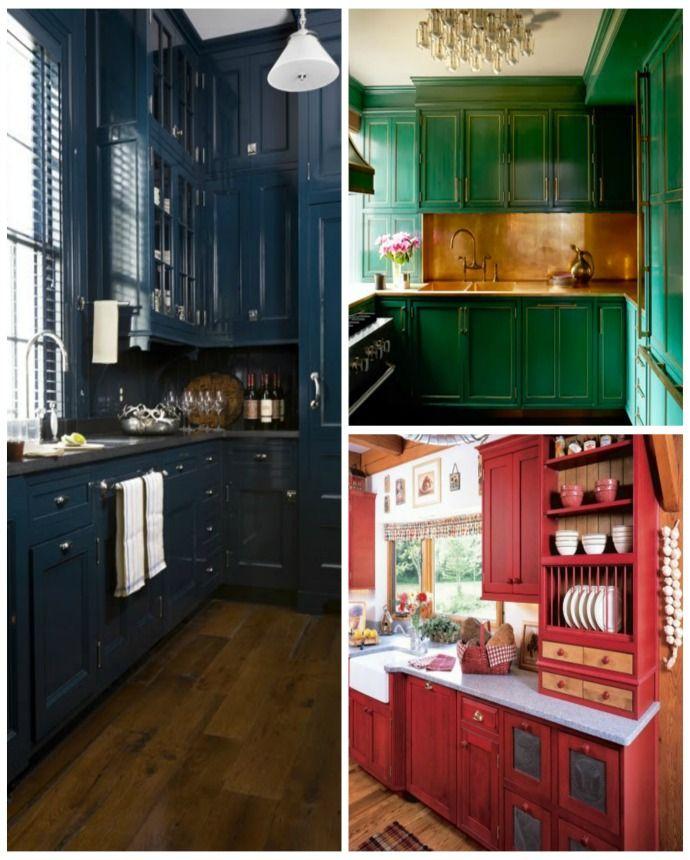 Jewel Tone Kitchen Cabinets