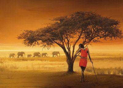 African Art,Evening Harmony, Buy at Art.com