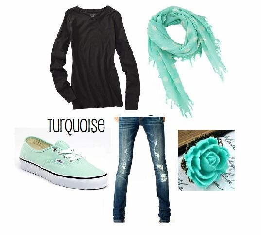 Turquoise outfit #vans   Outfits   Pinterest   The outfit Turquoise and Teen fashion