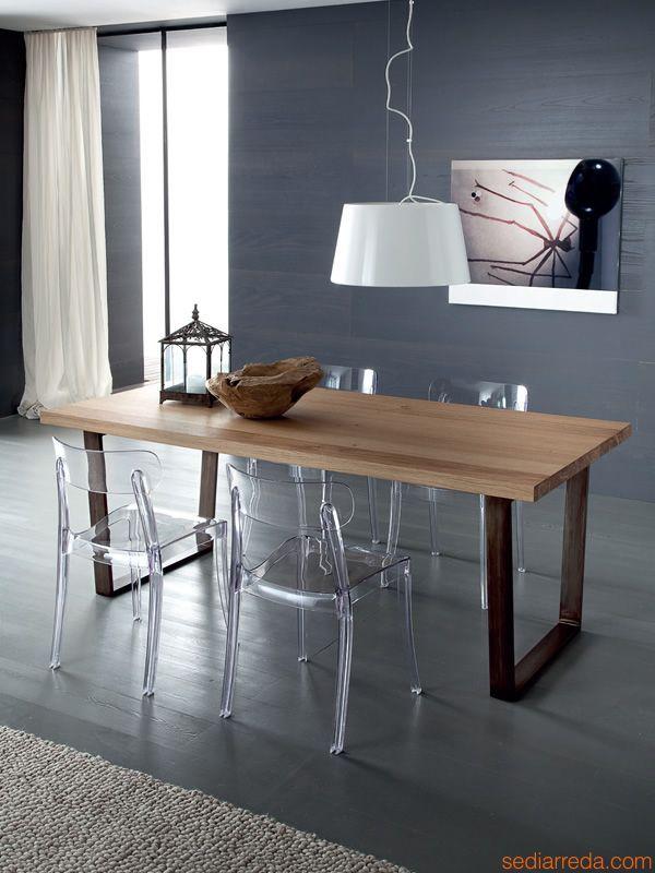 Tavolo Legno E Sedie Trasparenti.Pin Di Cristina Bizzarri Su Home Sedia Trasparente Sedia Cucina E