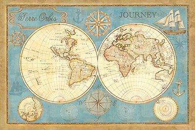 RB6236CC <br> Old World Journey Map <br> 24x36
