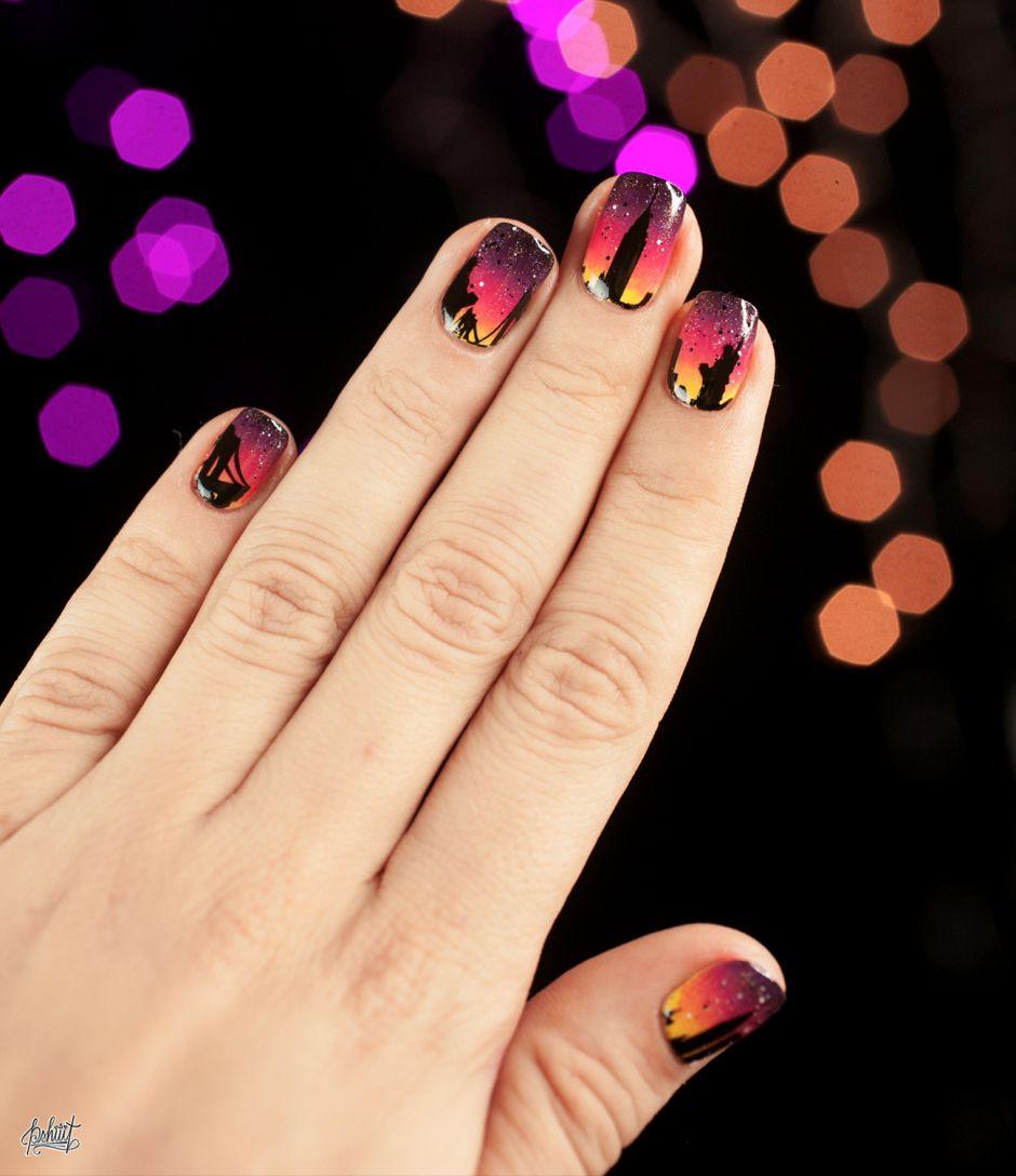 Nail art Skyline avec Maybelline | Nail envy, Makeup and Nail stuff