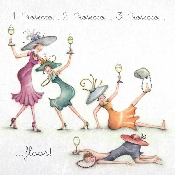 Prosecco Wine Card 1 Prosecco 2 Prosecco Lustig Illustration