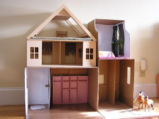 The Recycled Dollhouse - Eco-Mothering | Eco-Mothering
