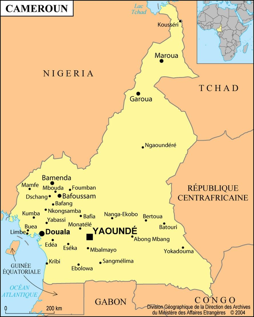 douala cameroon africa cameroon map 889 x 1110 Picture Been