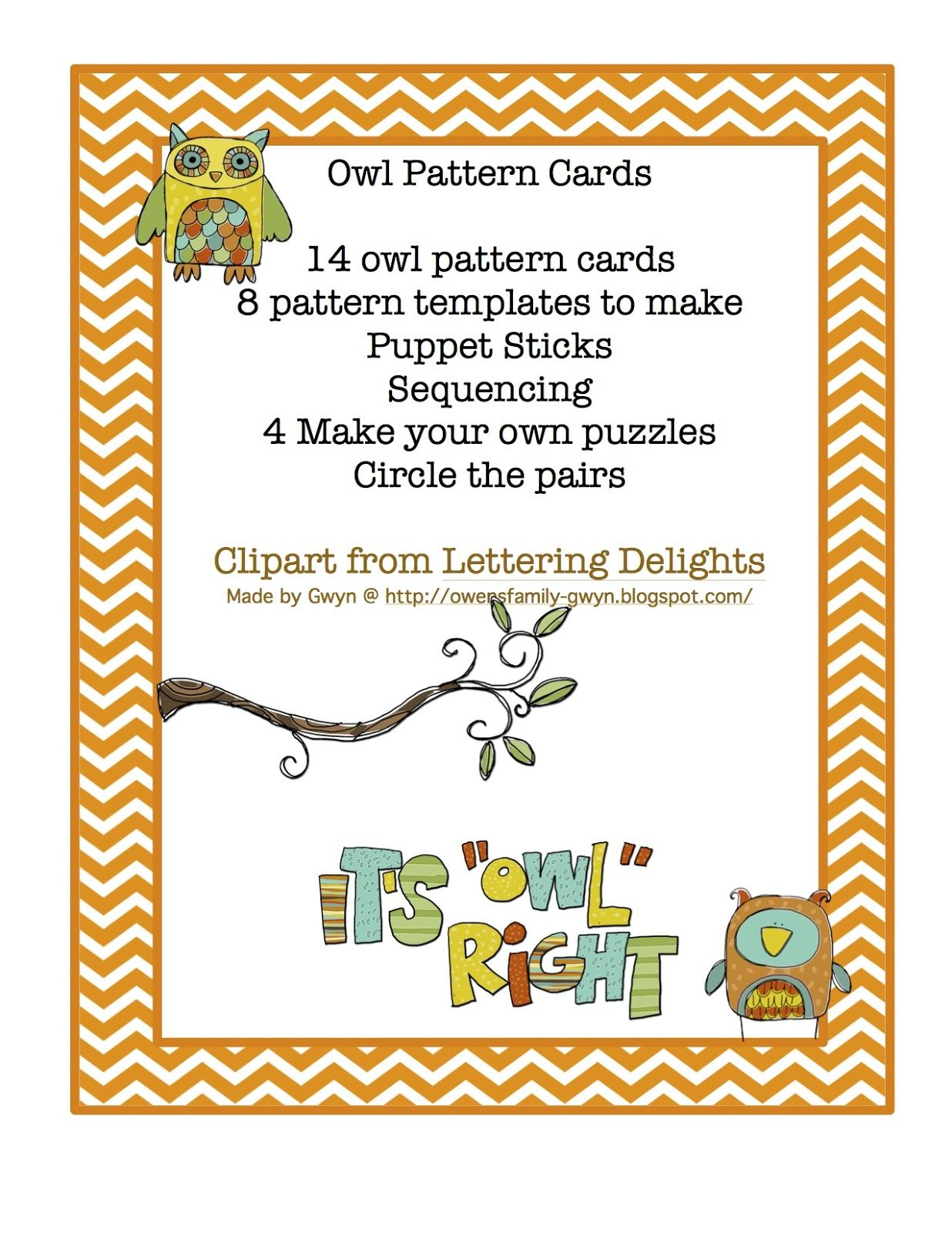 Owl Pattern Cards