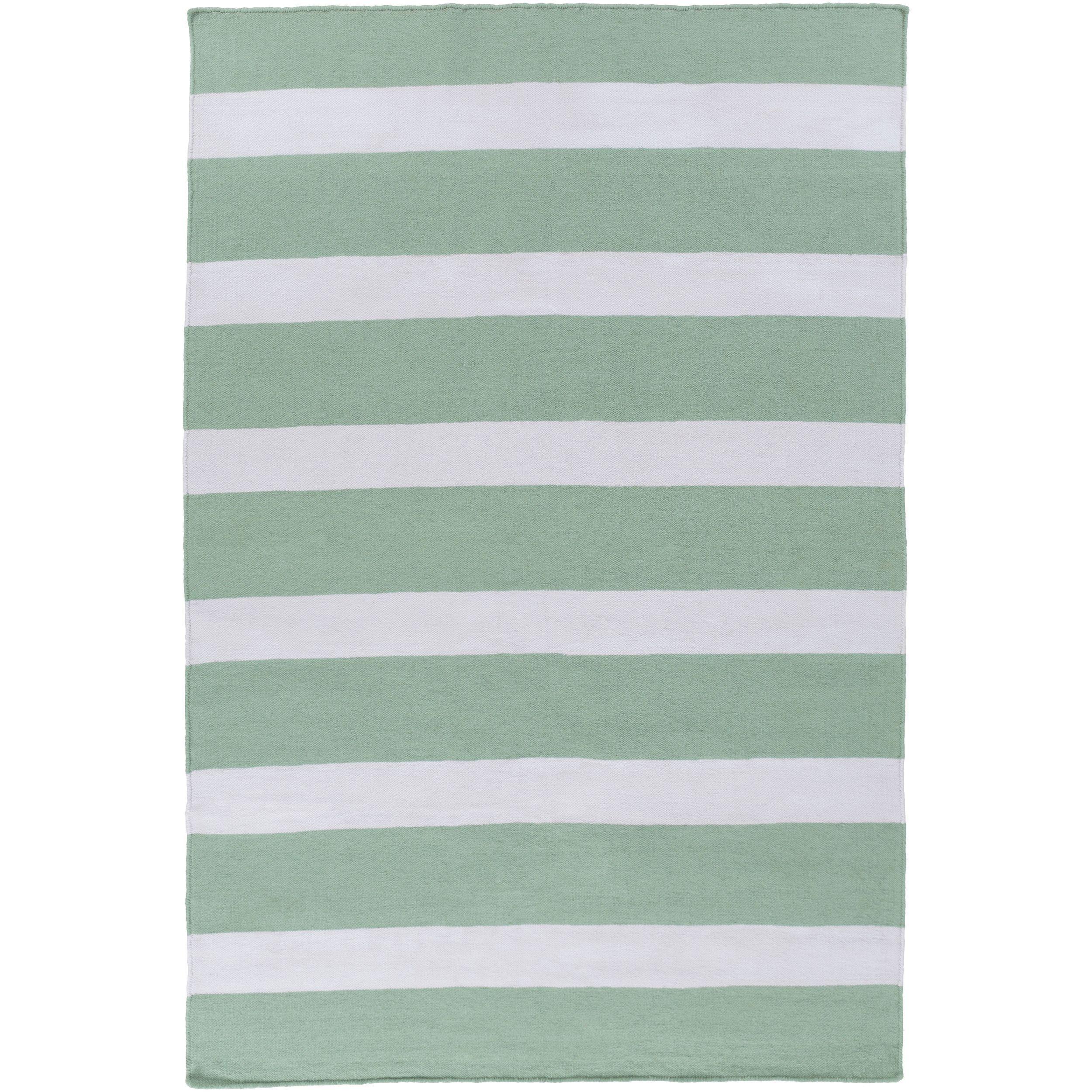 Hand Woven Shelley Stripe Pattern Indoor Outdoor Rug 3 6 X 5 6