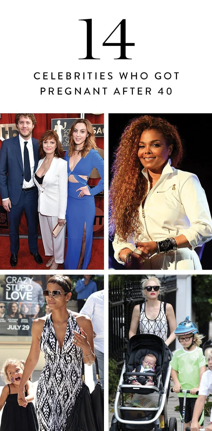 28fdcb8642 14 Celebrities Who Got Pregnant After 40 via  PureWow