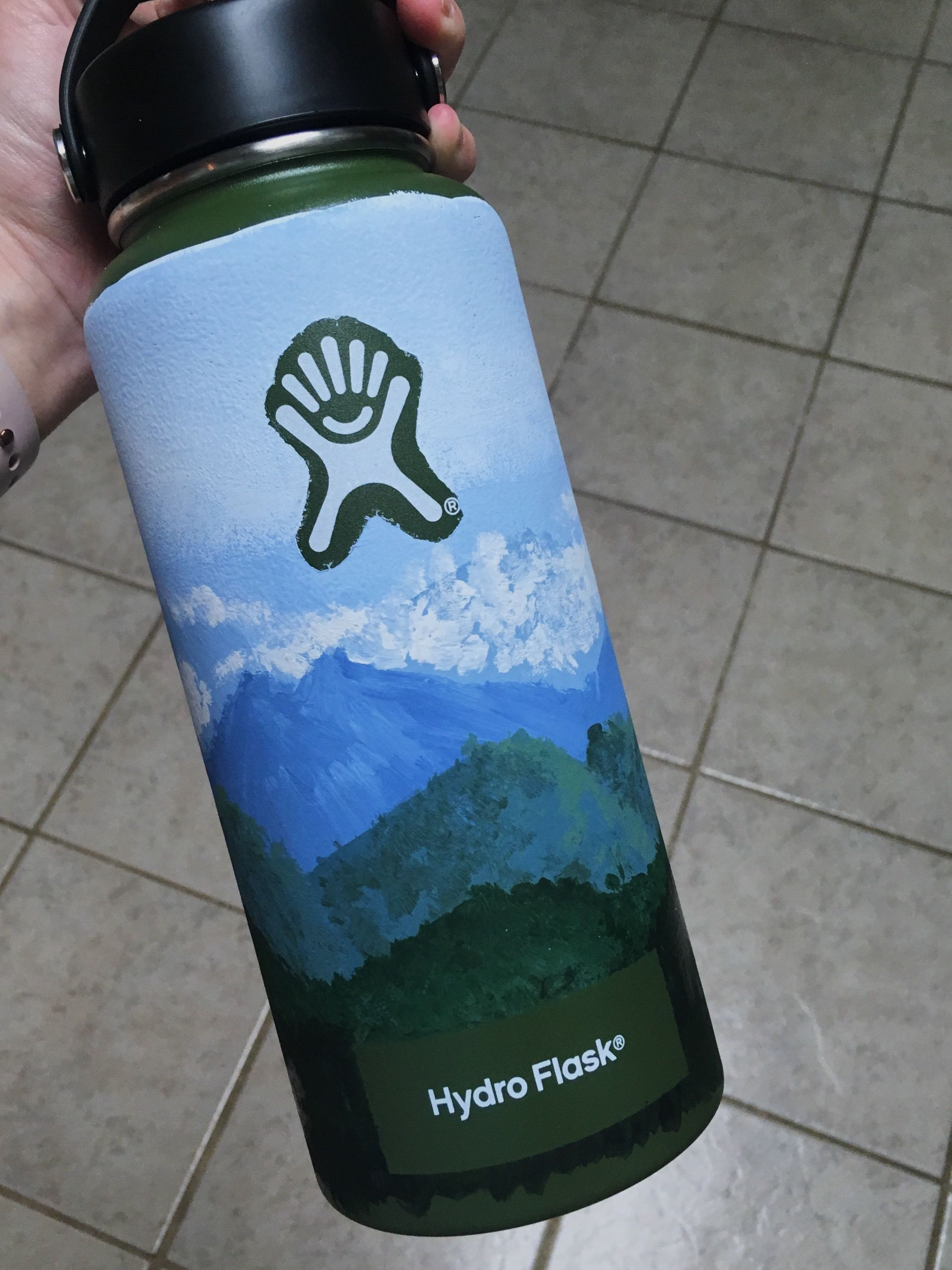Hand Painted Hydro Flask Water Bottle Art Hydro Painting