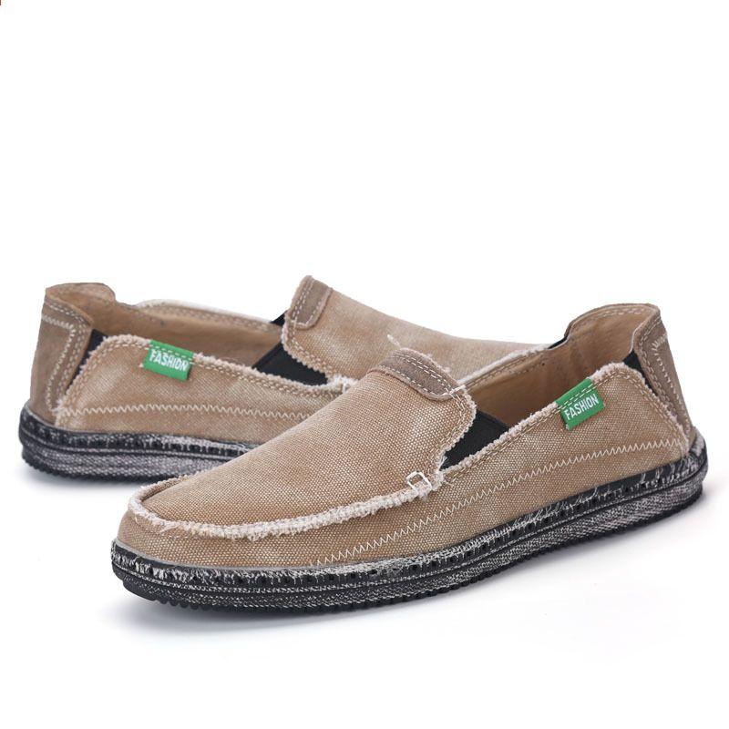 Meskie Dorywczo Brezentowych Butow Mokasyny Plotnie Denim Man Casual Letnie Wiosna Mieszkania Dzinsy Slip On Buty Moda Mezczyzni Snea Espadrilles Shoes Fashion