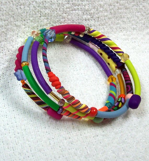 Memory Wire Bracelet  Bright Fun and Fashionable by MyStudio91, $25.00