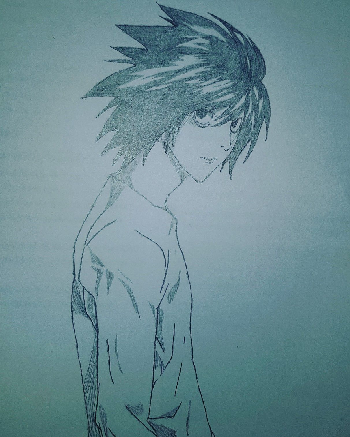 L Death Note L Deathnote Drawing Art Pinterest Death Note